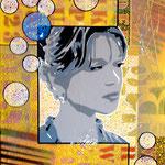 La belle personne - (Toile format 41 x 33) - Acrylique - Malagarty