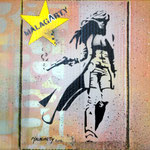 La tueuse - (Carton format 31 x 37) - Acrylique  - Malagarty