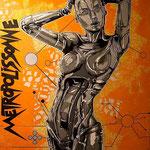 Metropolissonne - (Toile format 116 x 89) - Acrylique  - Malagarty