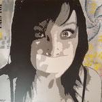 Sois belle et tais-toi - (Toile format 100x81) - Acrylique - Malagarty