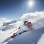 Skifahren, powdern