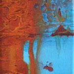 Vergängliches Eisen ll // Acryl auf Leinwand // 18x13 cm // 2011