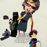 we are family // Collage auf Papier // 60x42 cm // 2010