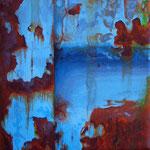 Vergängliches Eisen l // Acryl auf Leinwand // 10x10 cm // 2011