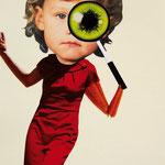 Isst du auch genug, mein Kind? // Collage auf Papier // 42x25 cm // 2010