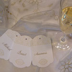 Tischkarten im Auftrag von Elegant Events