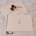 Hochzeitsmonogramm, Einladungen, Menukarten und Platzkarten im Auftrag von Do&Co