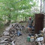 Räumung des Brennholzlagers