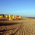 Strandkorb-Idylle morgens um 7.00 Uhr