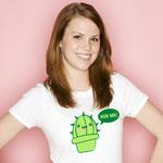 """T-Shirt """"Hug Me"""" weiß für Girls"""