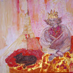 Königin mit Katze