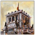 """Reichstag""/Acrylfarben auf Leinwand/ 30x30 cm"