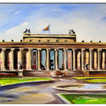 """Altes Museum- Museumsinsel""/Acrylfarben auf Leinwand/ 50x100 cm"