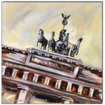 """Brandenburger Tor""/Acrylfarben auf Leinwand/ 30x30 cm"