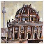"""Bodemuseum""/Acrylfarben auf Leinwand/ 30x30 cm"