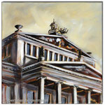 """""""Schauspielhaus am Gendarmenmarkt""""/Acrylfarben auf Leinwand/ 30x30 cm"""