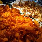 Süßkartoffel und Fenchelchips