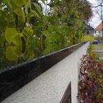 Gartenmauer-Abdeckung aus dunklem Granit 2
