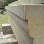 Sandstein-Massivprofilstück