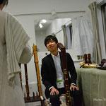 別会場での大型楽器の展示