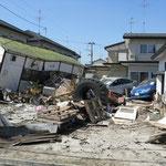 家屋が破壊されている状態