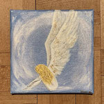 Angel in Blue / 20 x 20 cm