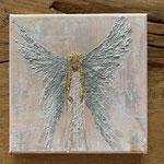 Silver Angel / 20 x 20 cm