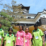 犬山城をははじめ、日本を文化も学びました