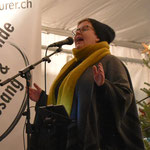 Venite Weihnachtsmarkt, Kapellplatz Luzern, Bezaubernde Musik & Gesang von Marion Maurer
