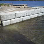 Réfection terminée (quai du Club nautique du Lac Sept-Îles, à Saint-Raymond)