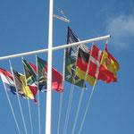 La bandera de España, presente