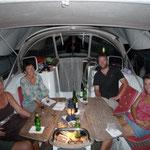 Cenita en el Aroha con Eric, Monika y Margaret