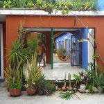 los patios del Hostel Nómada