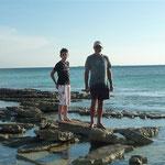 Sarqui. Rubén y Jose en la orilla