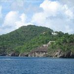 Costa de sotavento de St. Lucía