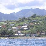 La costa de barlovento de St. Vincent