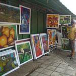 Pinturas en el Mercado de Artesanías