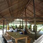 El salón del campamento