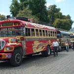 Parada de buses en Sololá