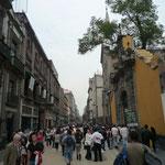 Calle peatonal del Centro Histórico de México