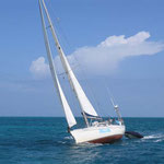 El Bahía navegando a Falmouth