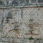 Detalles de la excelente conservación de Uxmal
