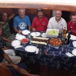 Comida a bordo del Cap's