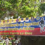 Pancarta de Plaza Colón