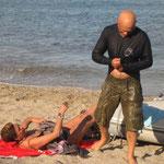 Remojada en la playa