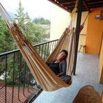 En la posada Guamanchi, Mérida, frente a nuestra habitación