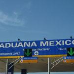 Entrando en territorio mexicano