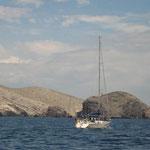 Llegando a las Islas Chimana