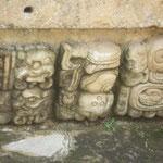 Jeroglíficos en el Templo 22, edificio del 715 d. C.
