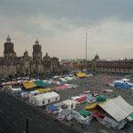 Plaza de la Constitución, más conocida como Zócalo; una de las mayores del mundo